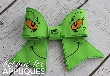 Mean One Inspired Cheer Bow BIG BOW project ITH